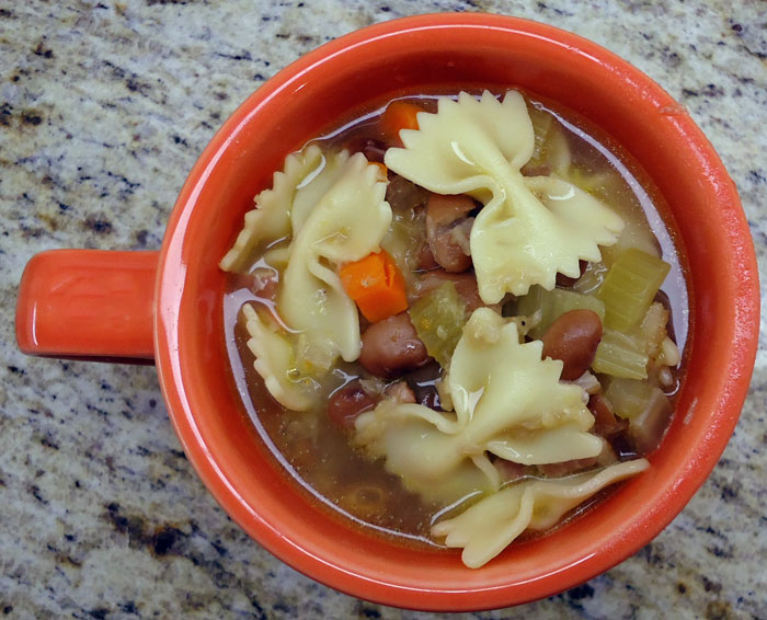 Slow Cooker Pasta and Bean Soup | Culinary Hill