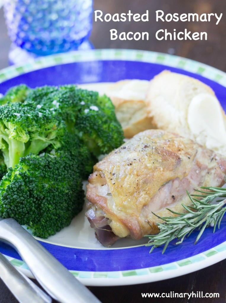 Roasted Rosemary Bacon Chicken | Culinary Hill