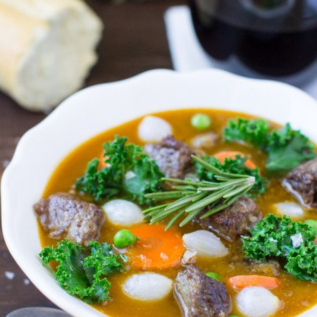 Beef Stew with Kale, Rosemary, and Sweet Potatoes | Culinary Hill