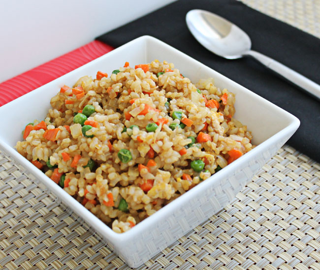 Vegetable Fried Rice with Brown Rice and Egg @ Culinary Hill