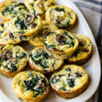 Egg Muffins make a healthy, freezer-friendly breakfast or snack option! Make a batch to keep on hand and customize with your favorite fillings.