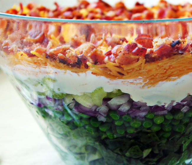 Seven Layer Salad Cake Ideas and Designs