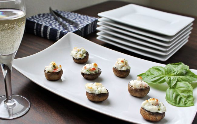Stuffed Mushrooms with Crab and Cream Cheese @ Culinary Hill