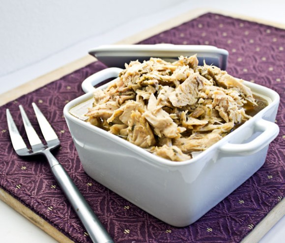 Slow Cooker Shredded Turkey ~ Culinary Hill