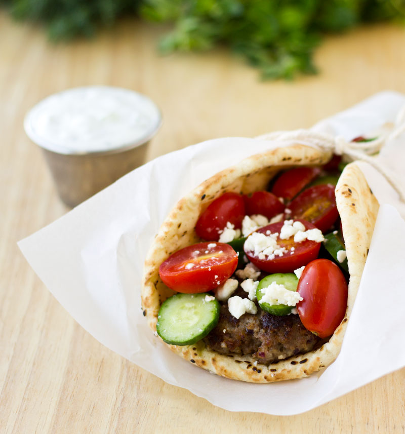 Beef Gyros with Cucumber-Dill Sauce | Culinary Hill