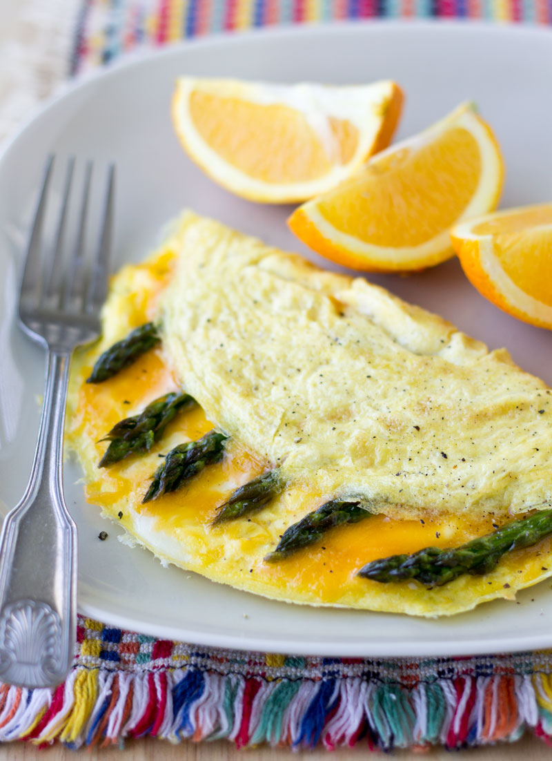 Cheddar Cheese and Asparagus Omelette | Culinary Hill