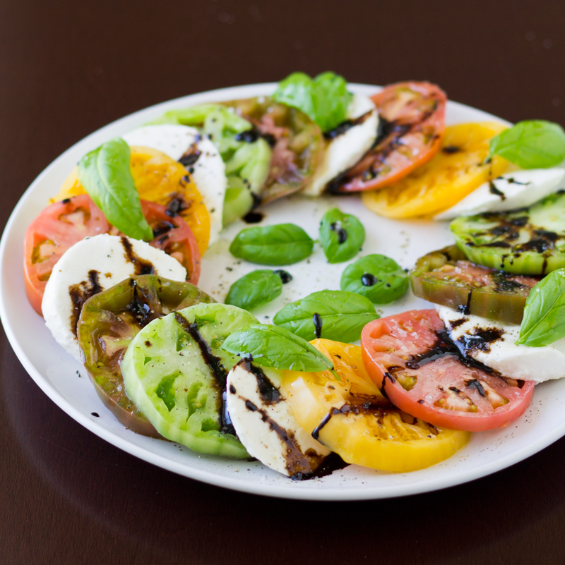 Caprese Salad with Heirloom Tomatoes | Culinary Hill