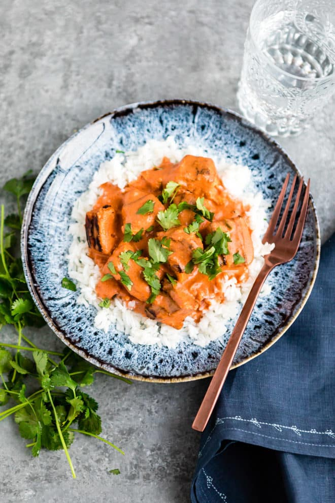 An easy Chicken Tikka Masala recipe. Make this classic Indian dish at home with yogurt-marinated grilled chicken and a rich, creamy tomato sauce. Tikka lovers, you will adore this recipe!