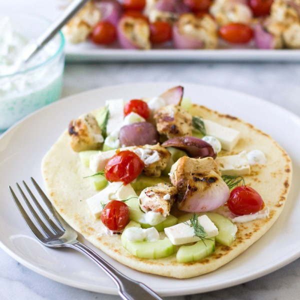 Grilled Chicken Gyro Skewers | Culinary Hill