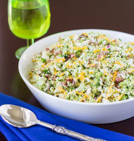 Broccoli Salad with Bacon and Cheddar Cheese {Piggly Wiggly Salad} | Culinary Hill