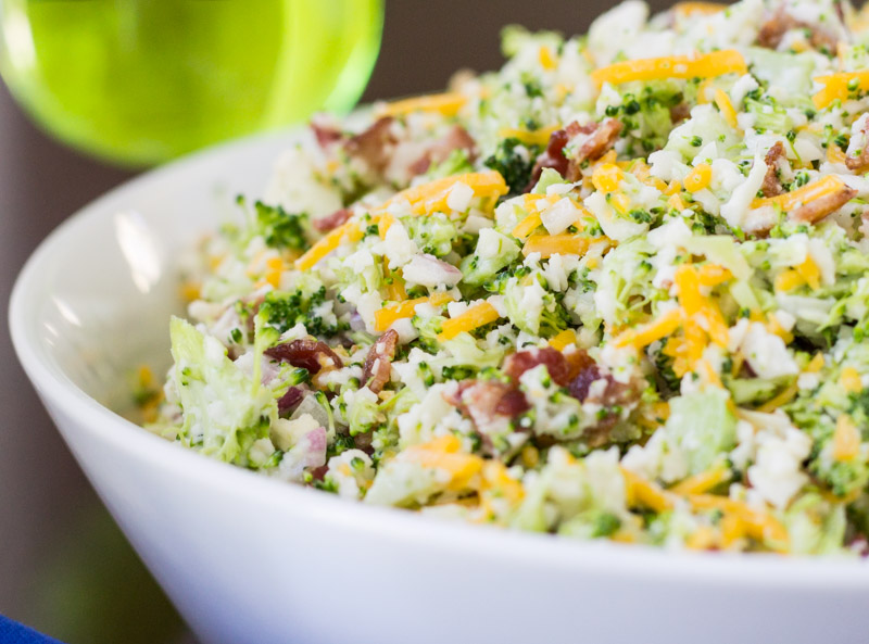 Broccoli Salad with Bacon and Cheddar Cheese {Piggly Wiggly Salad ...