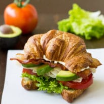 This Turkey Avocado BLT Croissant Sandwich, made with high-quality ingredients, is so much better than anything you can get at your local restaurant chain!