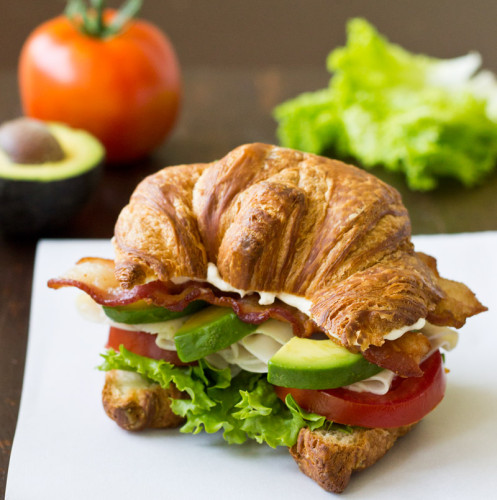 Turkey Avocado BLT Croissant Sandwich | Culinary Hill
