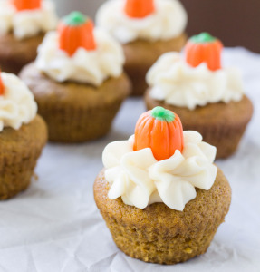 Pumpkin Muffins with Cream Cheese Frosting | Culinary Hill
