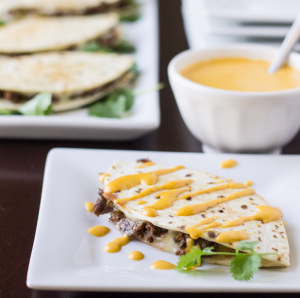 Football Philly Cheesesteak Quesadillas | Culinary Hill