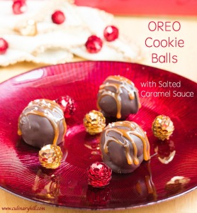 OREO Cookie Balls with Salted Caramel Sauce | Culinary Hill #shop