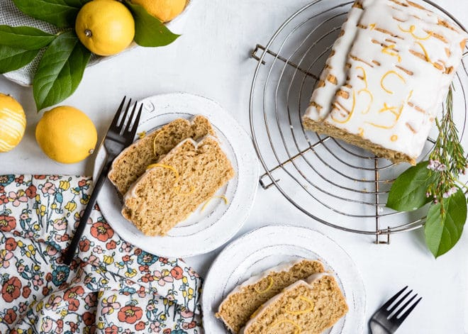 An easy recipe for Lemon Olive Oil Cake that also happens to be vegan and full of whole, unprocessed ingredients. Use whole wheat pastry flour for a tender cake with a nutritious boost!