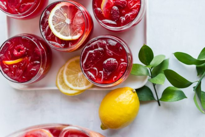 "An easy recipe for Raspberry Lemonade Fizz. Make this non-alcoholic beverage the ""signature drink"" at your next party! It only takes 3 ingredients and everything can be made ahead. And you can spike it if you want to!"