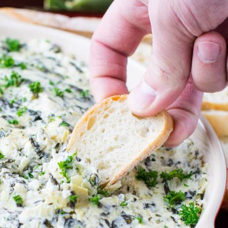 Spinach and Artichoke Dip | Culinary Hill