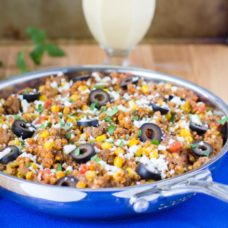 A great weeknight meal option full of whole grains and familiar Mexican ingredients, this easy Mexican Skillet with Buckwheat is ready in just 25 minutes!