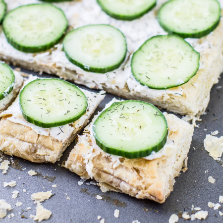 Cucumber Sandwiches are an easy, crowd-pleasing appetizer you'll make again and again! All components can be prepared ahead of time and assembled in minutes.