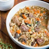 An easy recipe for Slow Cooker Beef Barley Soup. A few extra steps prep you soup for maximum flavor and a crockpot adds all the convenience!