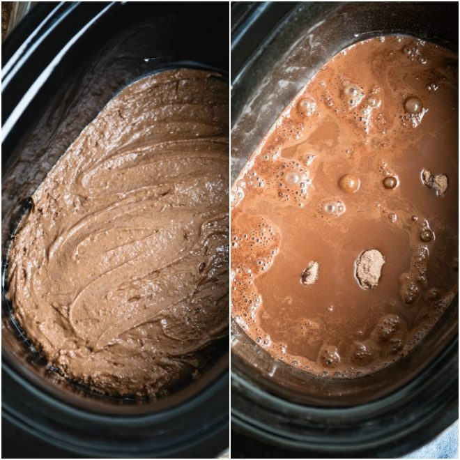 This Slow Cooker Chocolate Lava Cake is a game-changer: Warm, gooey chocolate cake (made from scratch!) nestled in a river of thick fudge sauce. Make this easy, luscious dessert right in your crockpot. Top with ice cream, whipped cream, or both for an extra special treat.