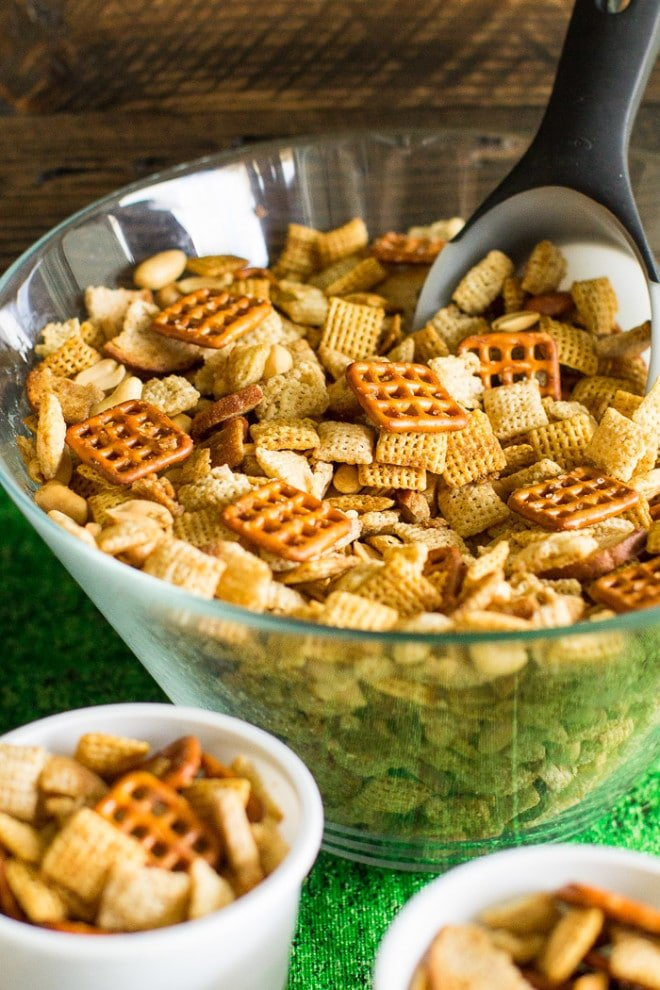 Make Homemade Chex Mix in the microwave in 10 minutes or less! Adapted from the original Chex Mix recipe (but I use more butter).