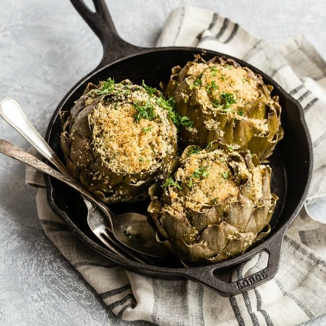Many Italian American meals wouldn't be complete without a platter of gorgeous stuffed artichokes on the table waiting to be devoured. If you've longed for such an artichoke, this recipe is the one you've been waiting for.