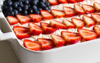This Strawberry Jello Poke Cake is the one I always make for the 4th of July.