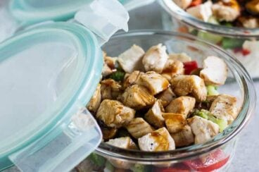 Make your own homemade freezer-friendly Teriyaki Chicken Bowls! They are fast, easy, and 100% customizable. You can put your leftovers to work, too!