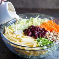 This easy Apple Coleslaw is great for lunch or dinner and every party you will ever host or attend. Everything can be prepped ahead of time.