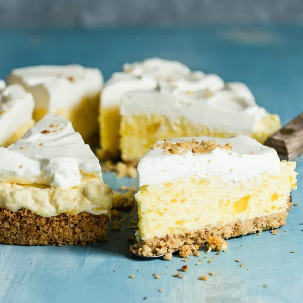 Inspired by Furr's famous Millionaire Pie. With a pecan crust and smooth pineapple filling, this version tastes a MILLION times better than the original!