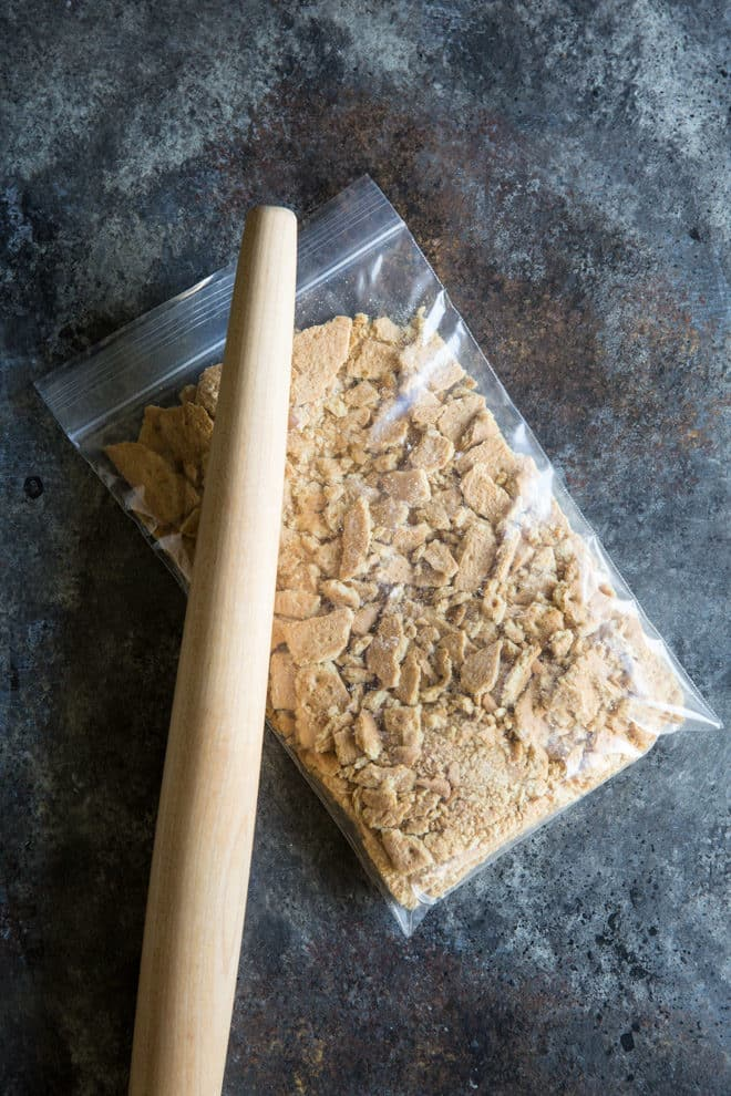 Learn how to make a Graham Cracker Crust from scratch! The homemade version is sweet, buttery, and miles ahead of anything you can buy at the store.