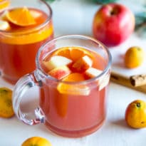 Mexican Christmas Punch (Ponche Navideño) is a warm, deliciously fruity, naturally sweetened punch perfect for cold weather and especially the holidays!