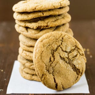 When one kind of ginger isn't enough, add another! These Double Ginger Cookies bake up soft, chewy, and flavorful with no dough to roll out!