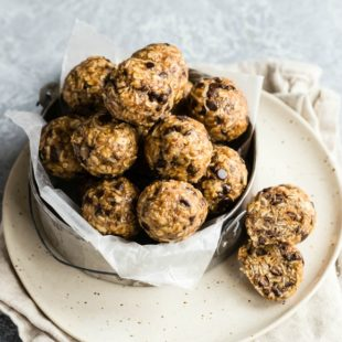 An easy recipe for No Bake Energy Bites. Made with peanut butter, oats, and coconut, these tasty treats are perfect for your sweetest cravings or anytime you need a healthful snack.