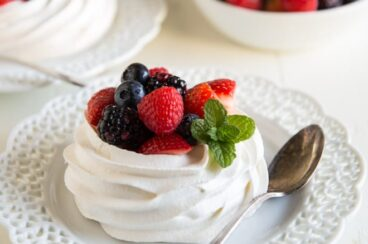 Virtually unknown outside of Wisconsin, Schaum Torte is the German equivalent of Pavlova. It's perfect topped with fresh fruit, whipped cream, or ice cream!