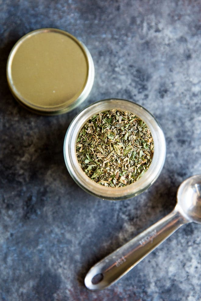 This homemade greek seasoning recipe can be mixed together in minutes and adds authentic greek flavor to any recipe. A combination of classic Mediterranean herbs and warming spices, this all-purpose blend can be used on chicken, lamb, beef, vegetables, kebabs, salads, and more. Delicious, versatile, and down-right easy to make, all the Yayas around the world will be proud!