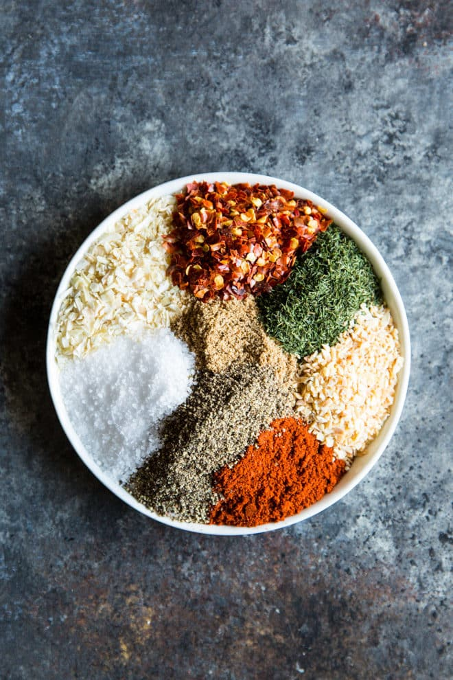 An easy recipe for Montreal Steak Seasoning. Make this copycat spice blend using common pantry ingredients. It's great on steak, of course, but also delicious on chicken, pork, and vegetables. Or, mix with oil and soy sauce for a delicious marinade!