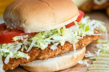 Pork tenderloin sandwich.