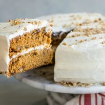Carrot cake lovers, rejoice!  This is the carrot cake of your dreams, complete with a swoon-worthy cream cheese frosting. Make a towering layer cake, a batch of cupcakes for a bunch of little rabbits, or a bundt cake for your next book club!