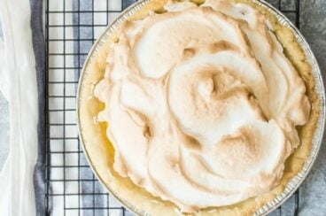 A lemon meringue pie.