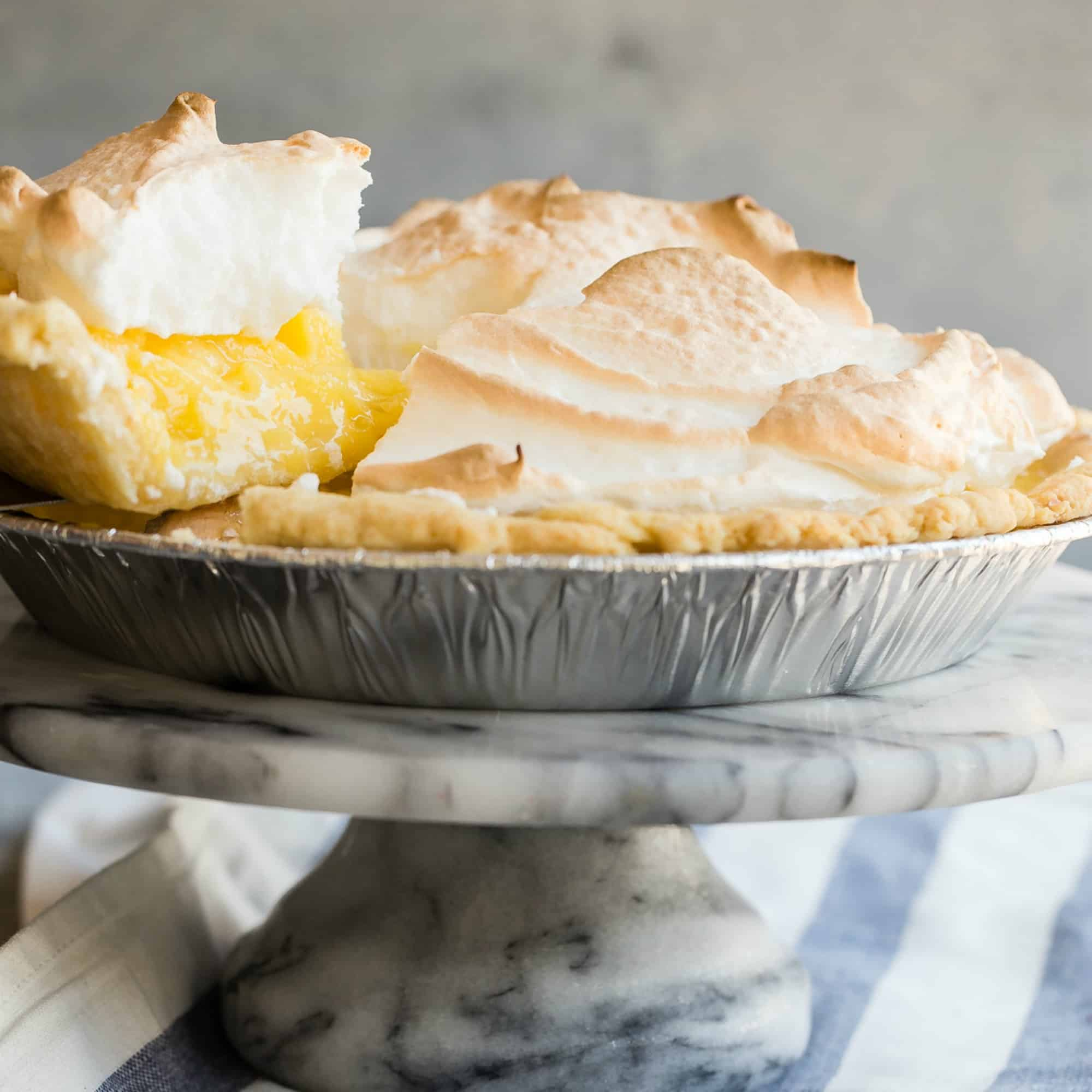A good lemon meringue pie is the stuff dreams are made of. Just one look at this swoon-worthy dessert, with its tall, glossy peaks and tart lemon custard and you'll want— no, need— an extra large slice.Maybe you should make two...