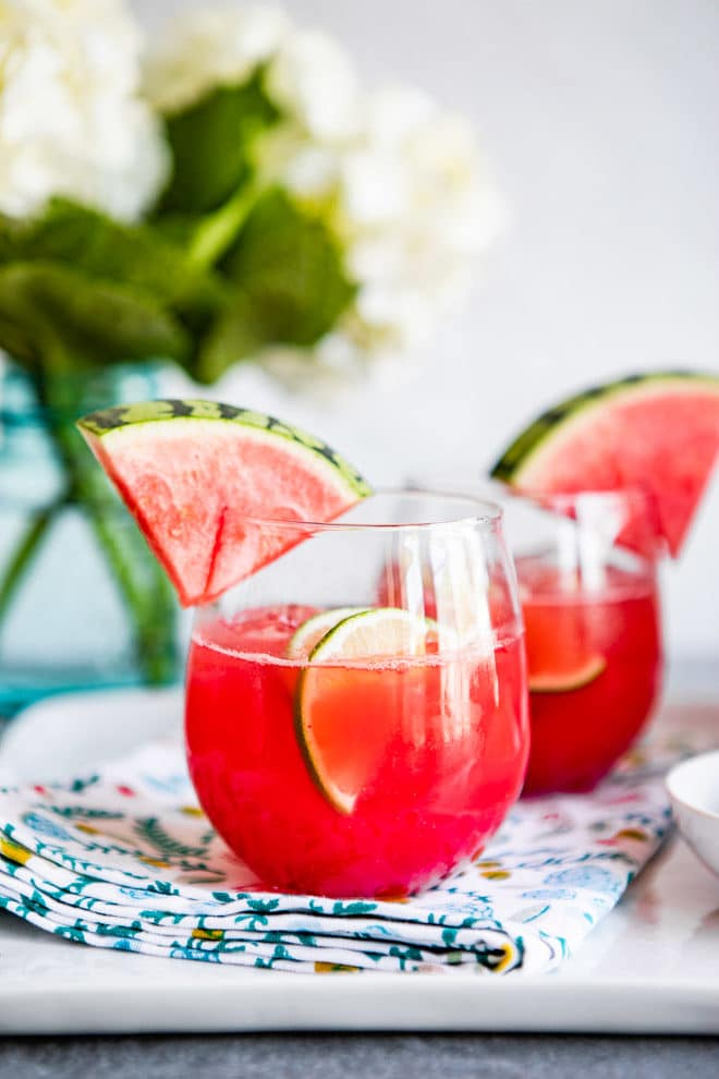 Pretty, pink, and refreshingly sweet, Watermelon Agua Fresca makes drinking water feel like a party! The watermelon version is perfect during the summer months when watermelon is in peak season. Low in calories and high in flavor, you'll feel like you're on vacation with every sip!