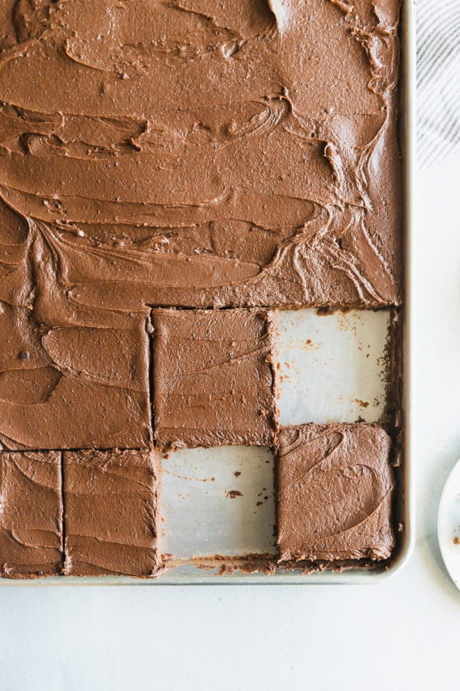 No need to make a trip to the Lone Star State to learn how to make the best Texas Sheet Cake from scratch—this one is big, bold, and beautiful. If you haven't made one before, get ready to flip over how easy it is to whip up, and how fast it'll disappear.
