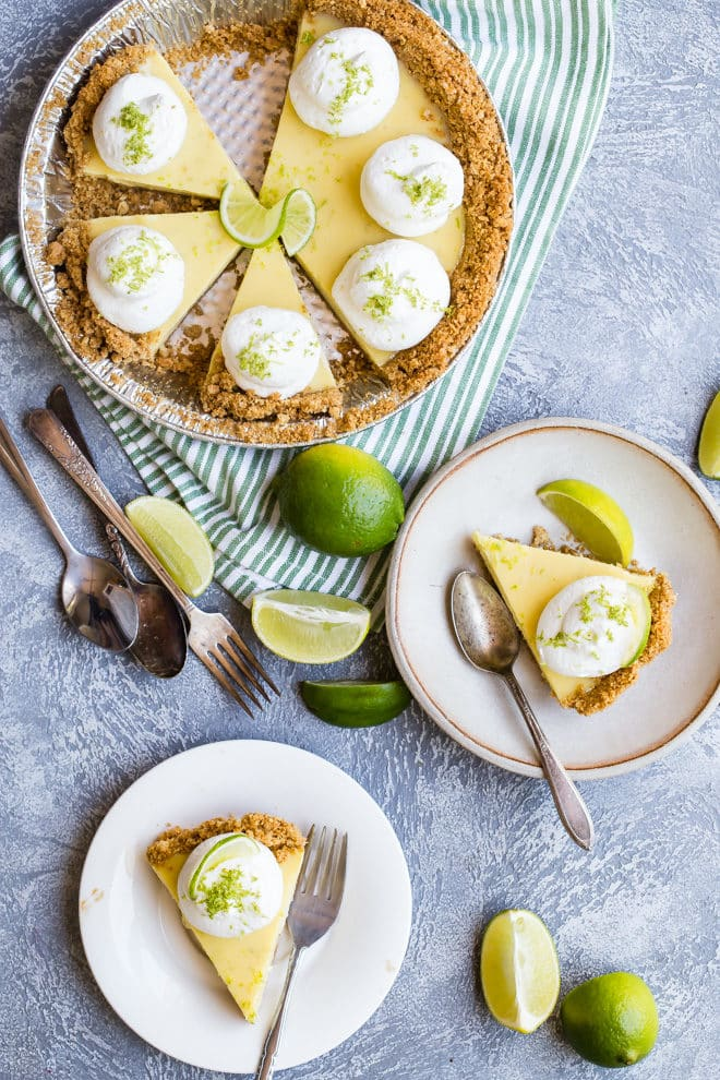 Florida's official pie is the sweet and tart Key Lime Pie, loved by all who taste it. Dreamy, smooth, and cool, it's a pie that any Key West local would be happy to sink their fork into. This recipe is as close to the classic, universally accepted recipe as it gets: a graham cracker crust, a light yellow filling made with egg yolks, and a topping made of slightly sweetened whipped cream.