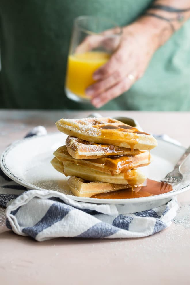 If you don't have a classic waffle recipe in your morning repertoire, this weekend may be the time to dust off that waffle iron and make some crispy, crunchy, delicious memories. Syrup covered memories.
