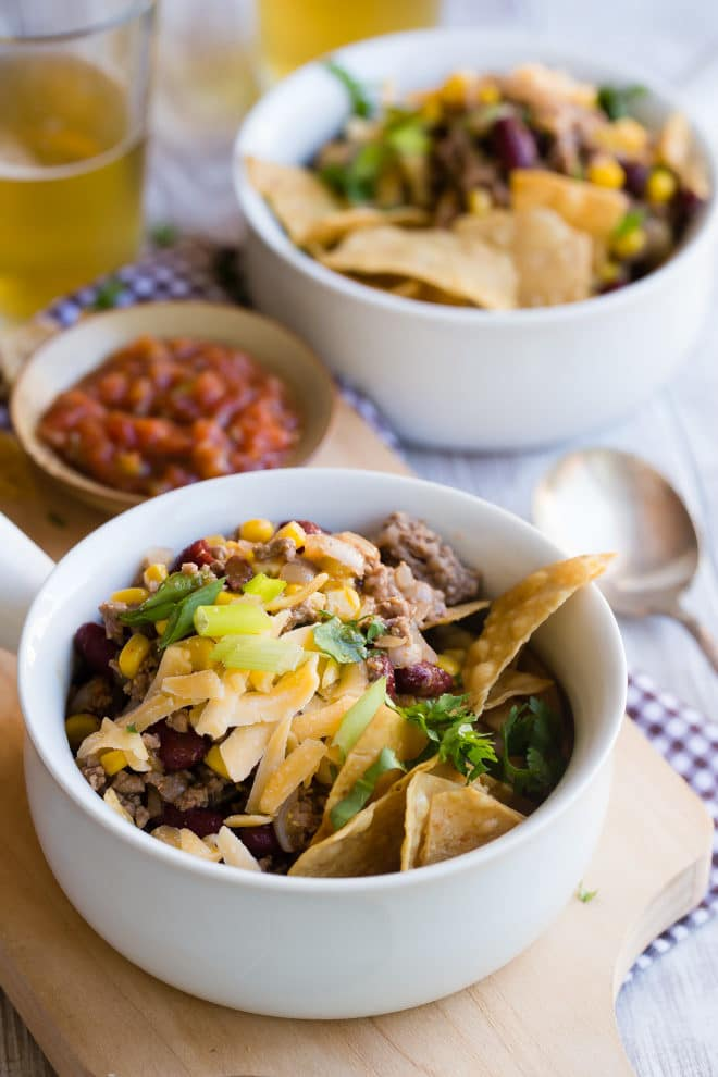 This recipe for easy Taco Soup recipe is one of my all-star hits, and I'll bet you already have most of the ingredients in your pantry! Besides being delicious, Taco Soup is easy no matter where you make it: On the stove, in the crockpot, or in the Instant Pot. I've included the instructions for all the ways!