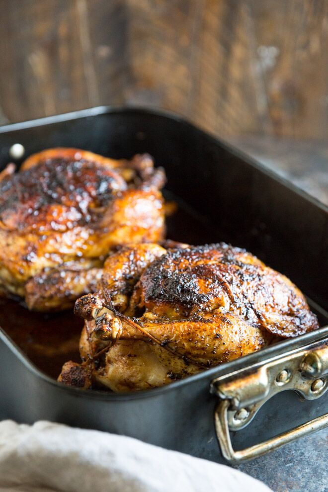 Once you learn how to make rotisserie chicken at home, with crispy skin and juicy meat, you won't be tempted to grab a bird at the store ever again!